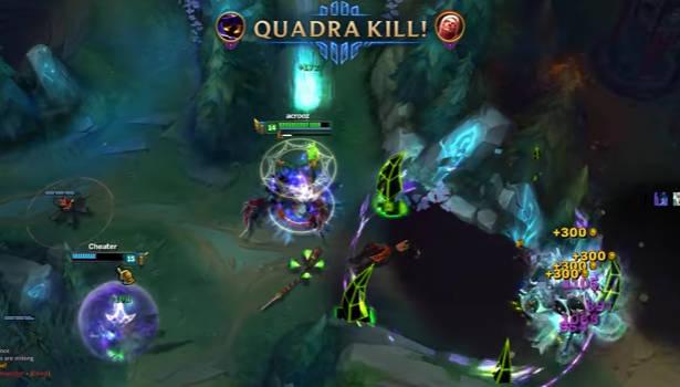 Instant Quadra Kill Von Veigar Lol Champion